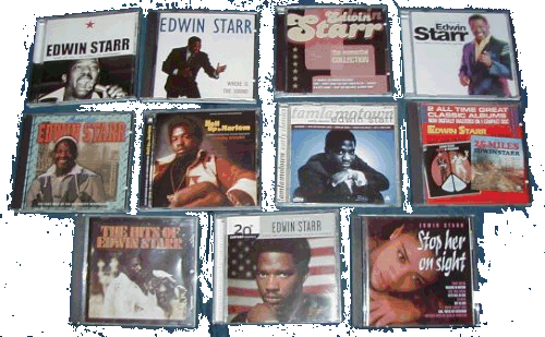 a selection of Edwin's CDs